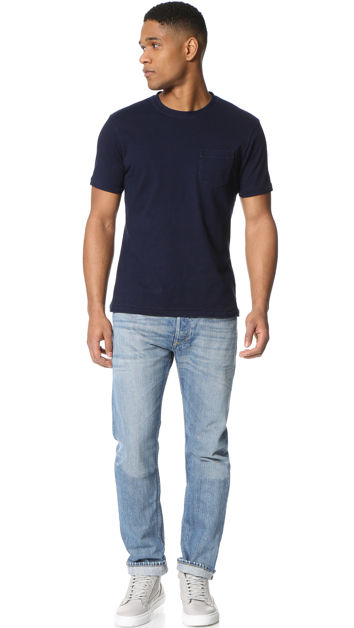 Alex mill a type denim jeans in blue for men lyst for Types of denim shirts