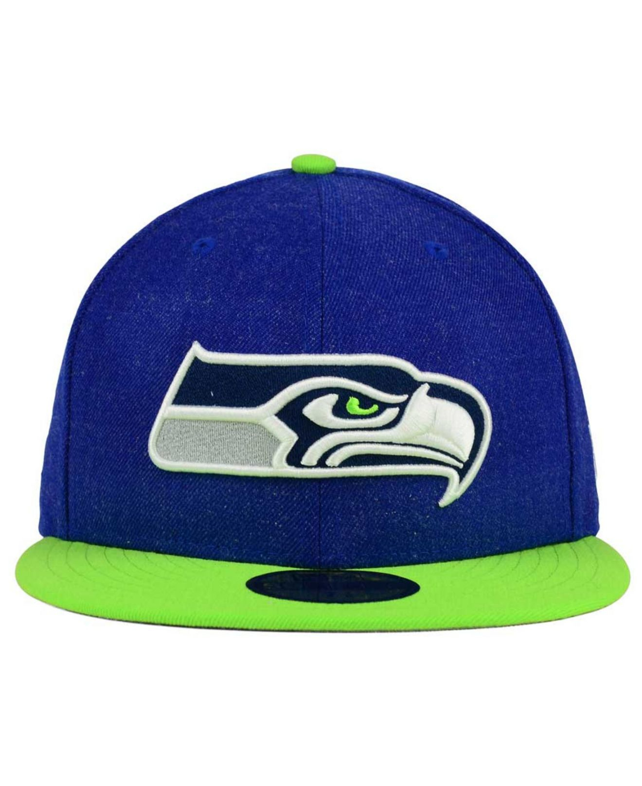 81266c3b552 ... promo code for lyst ktz seattle seahawks heather action 2 tone 59fifty  cap in 1d92b 81643
