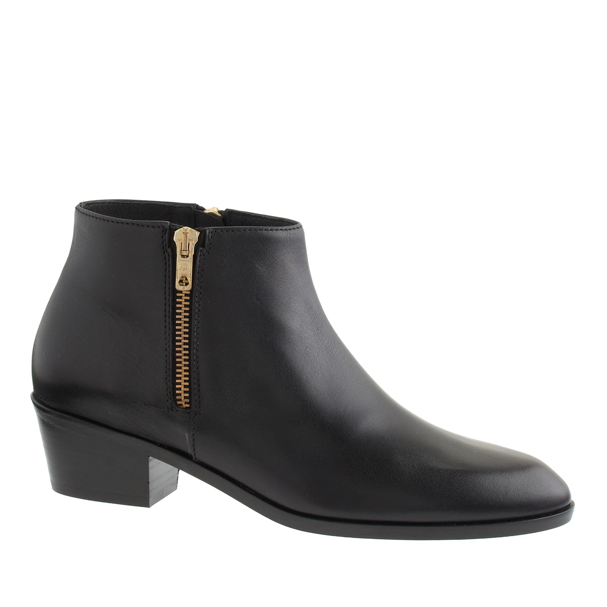 j crew remi zip ankle boots in black lyst