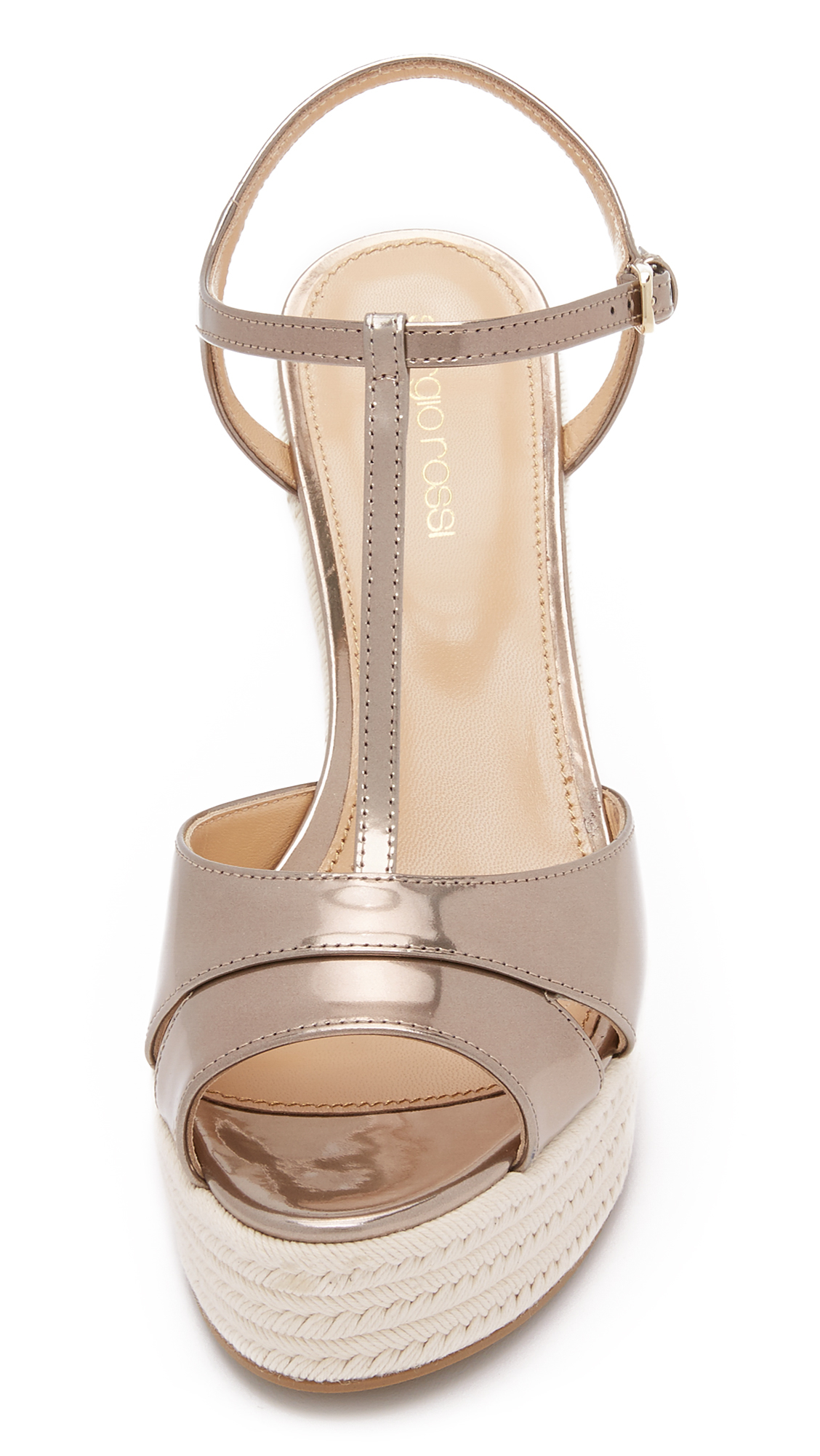 Lyst Sergio Rossi Edwige Wedge Sandals In Pink