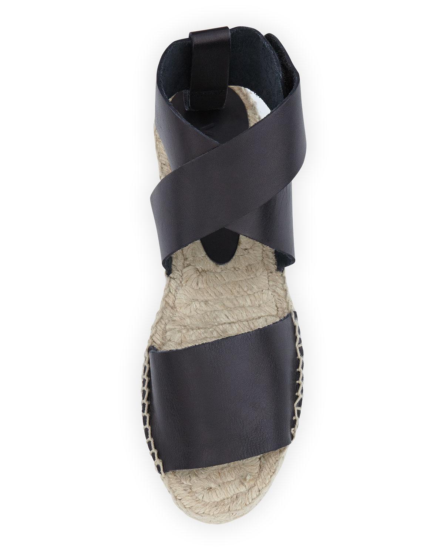 Vince Elise Espadrille Flat Sandal Black In Black Lyst