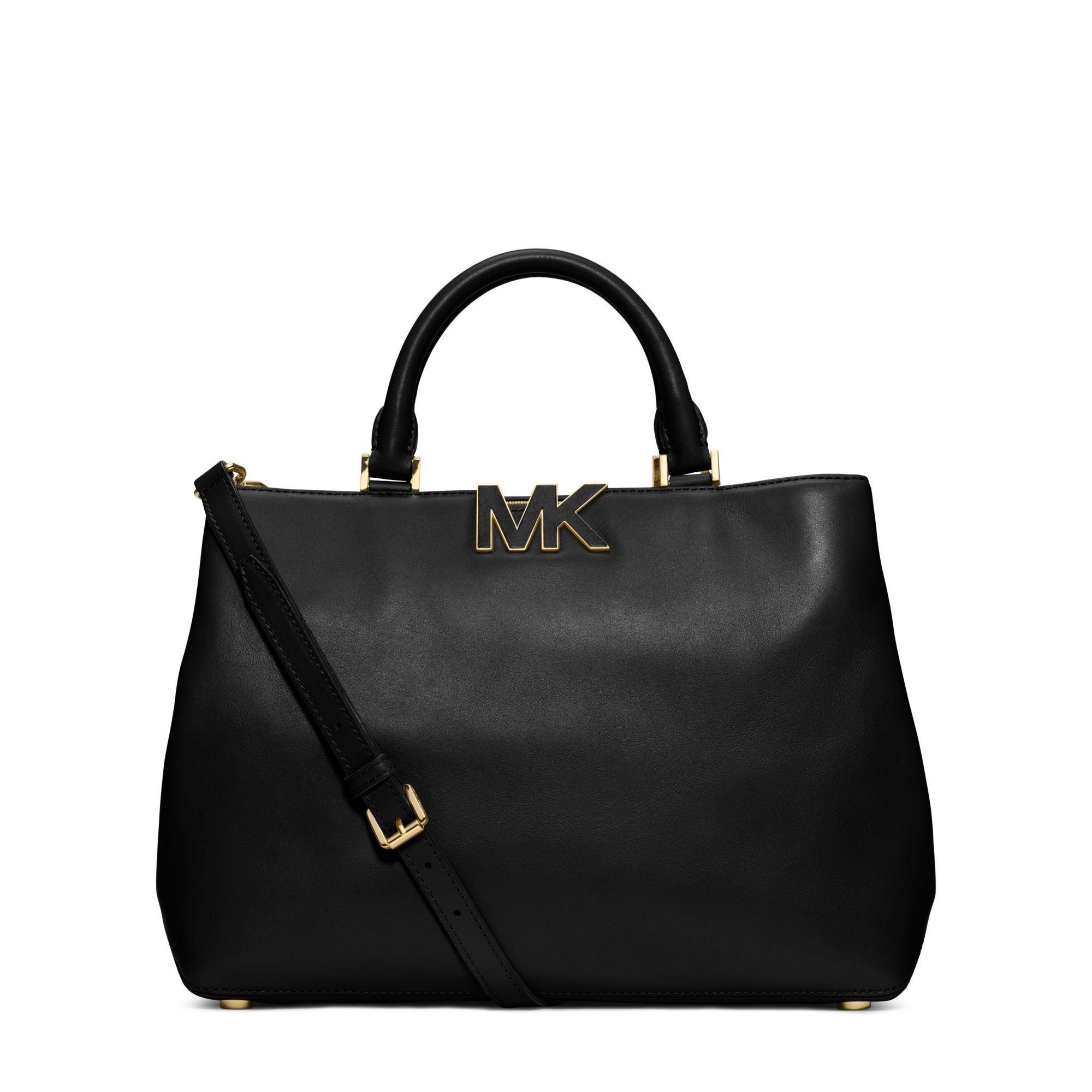 a2232f0fed8 Michael Kors Florence Leather Large Satchel in Black - Lyst
