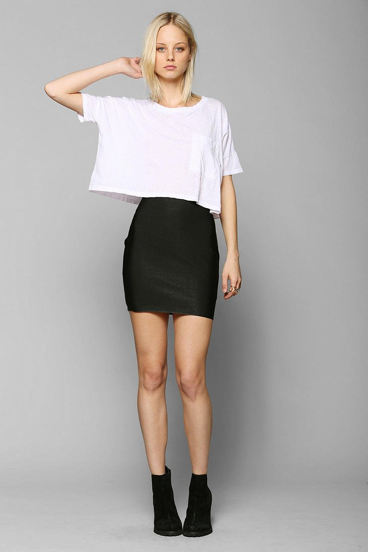 fb887bd0b0e110 Urban Outfitters Sparkle Fade Bodycon Bandage Mini Skirt in Black - Lyst