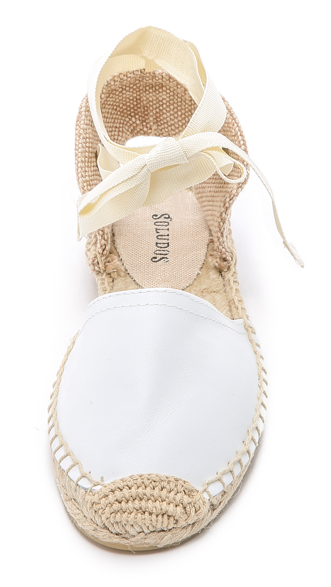 17271fc7660b Lyst - Soludos Leather Espadrille Sandals in White