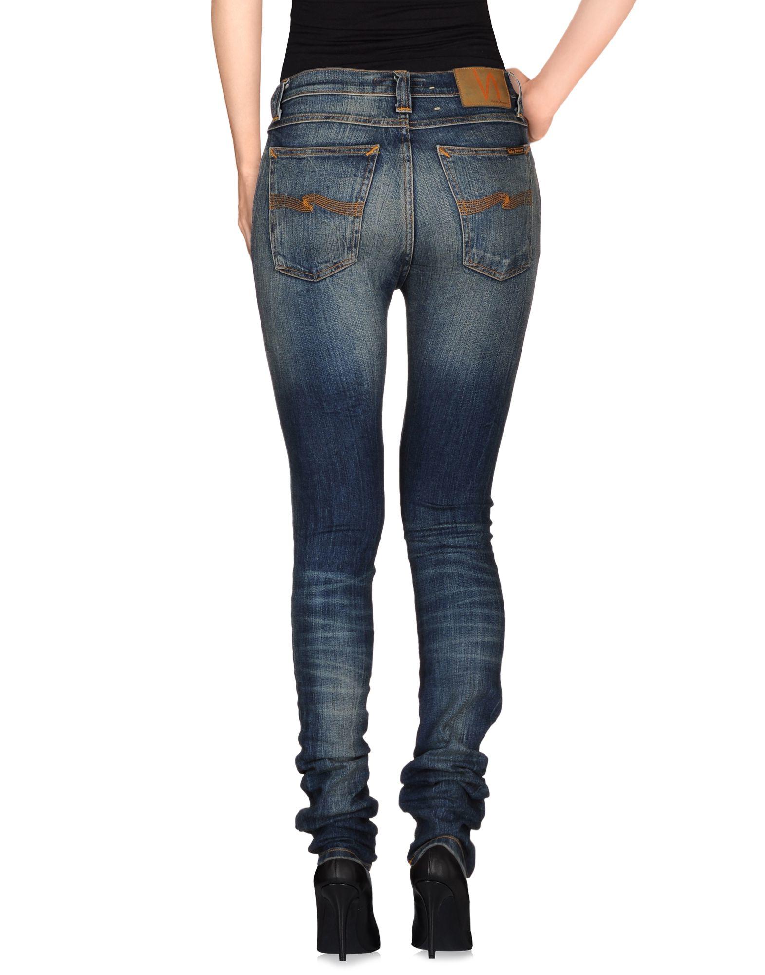 Lyst - Nudie Jeans Denim Trousers in Blue