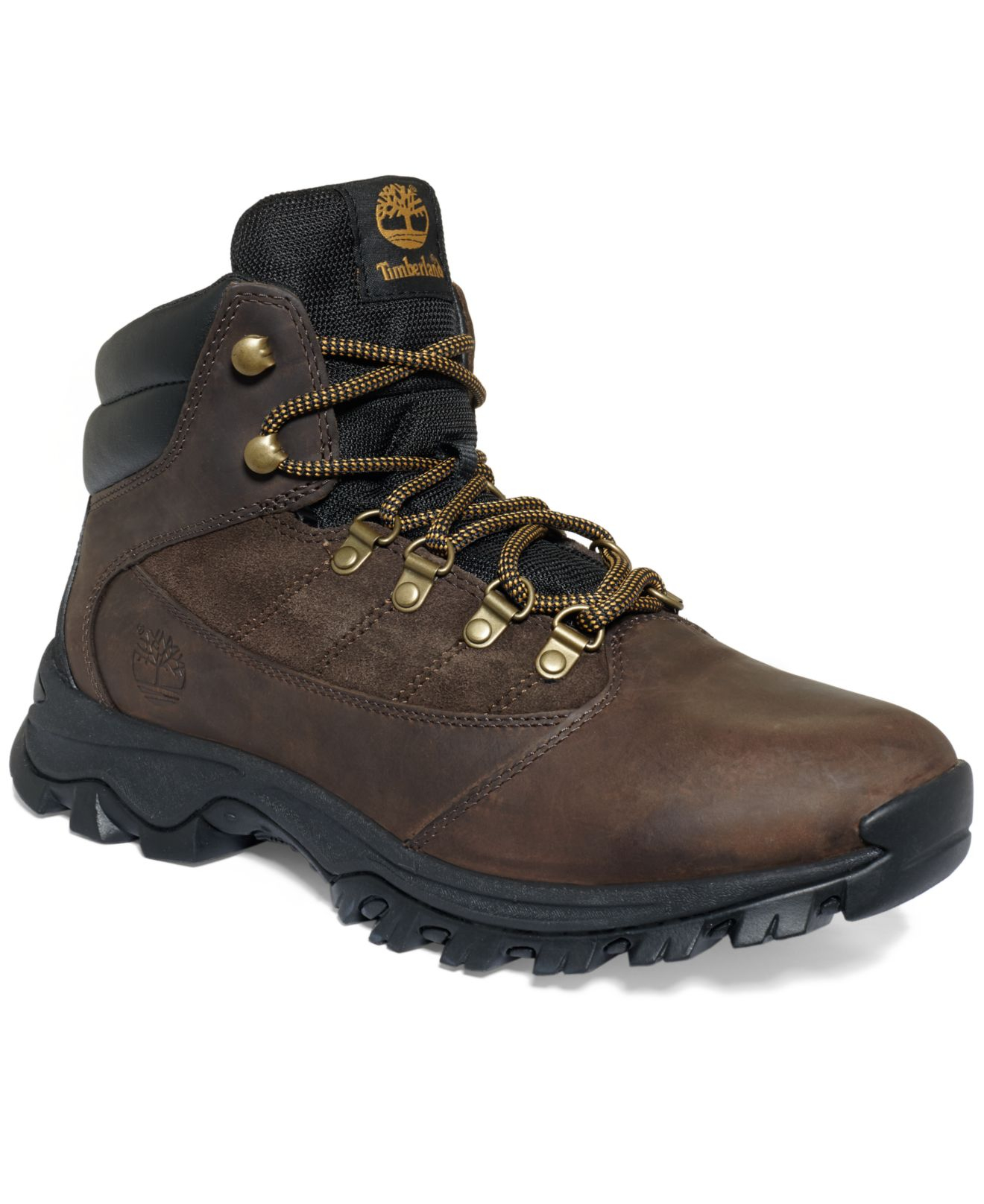 timberland s rangeley mid leather hiker boots in brown
