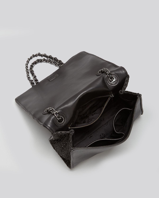 Tory Burch Shoulder Bag Fleming Metallic Quilted Medium