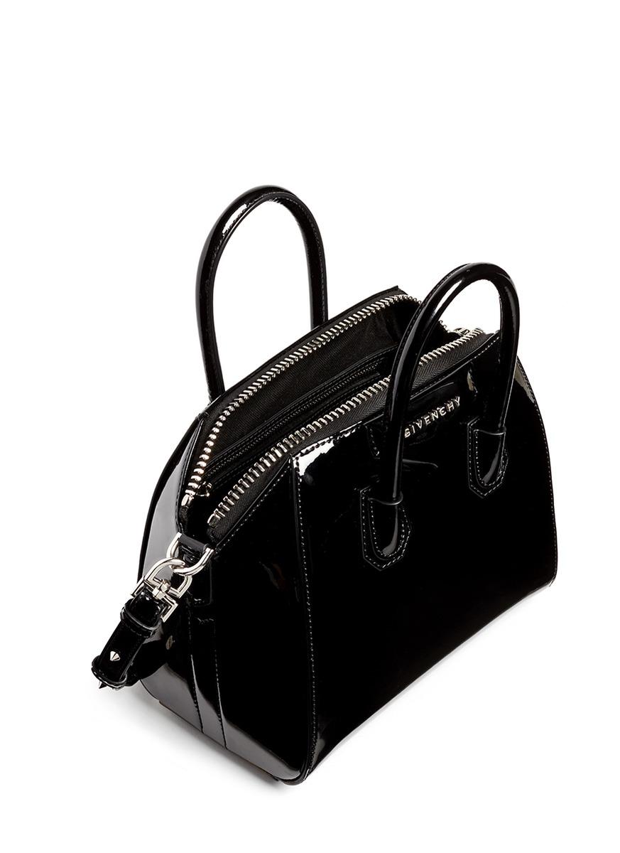 6e8a150d3145 Lyst - Givenchy  antigona  Mini Patent Leather Bag in Black