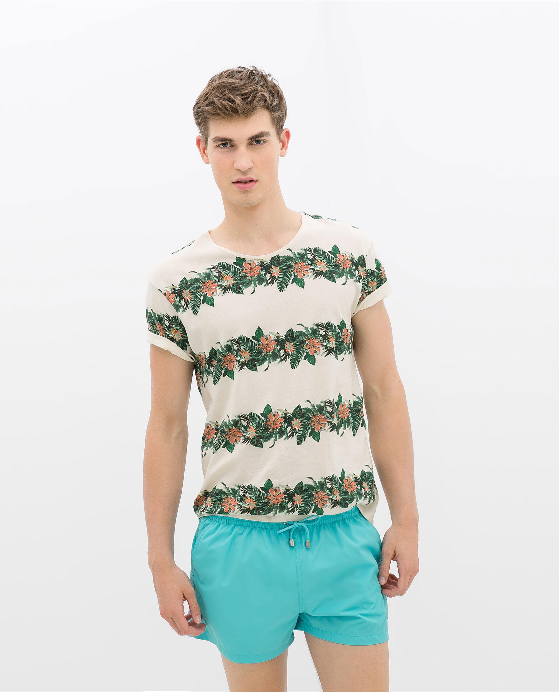 Zara Fluro Swimsuit in Green for Men   Lyst