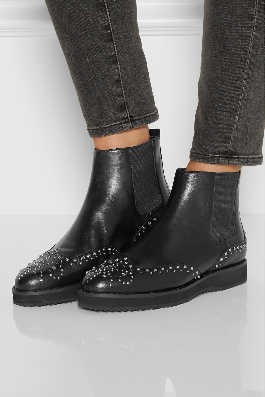 8eb193d3b84b Lyst - MICHAEL Michael Kors Sofie Studded Leather Chelsea Boots in Black