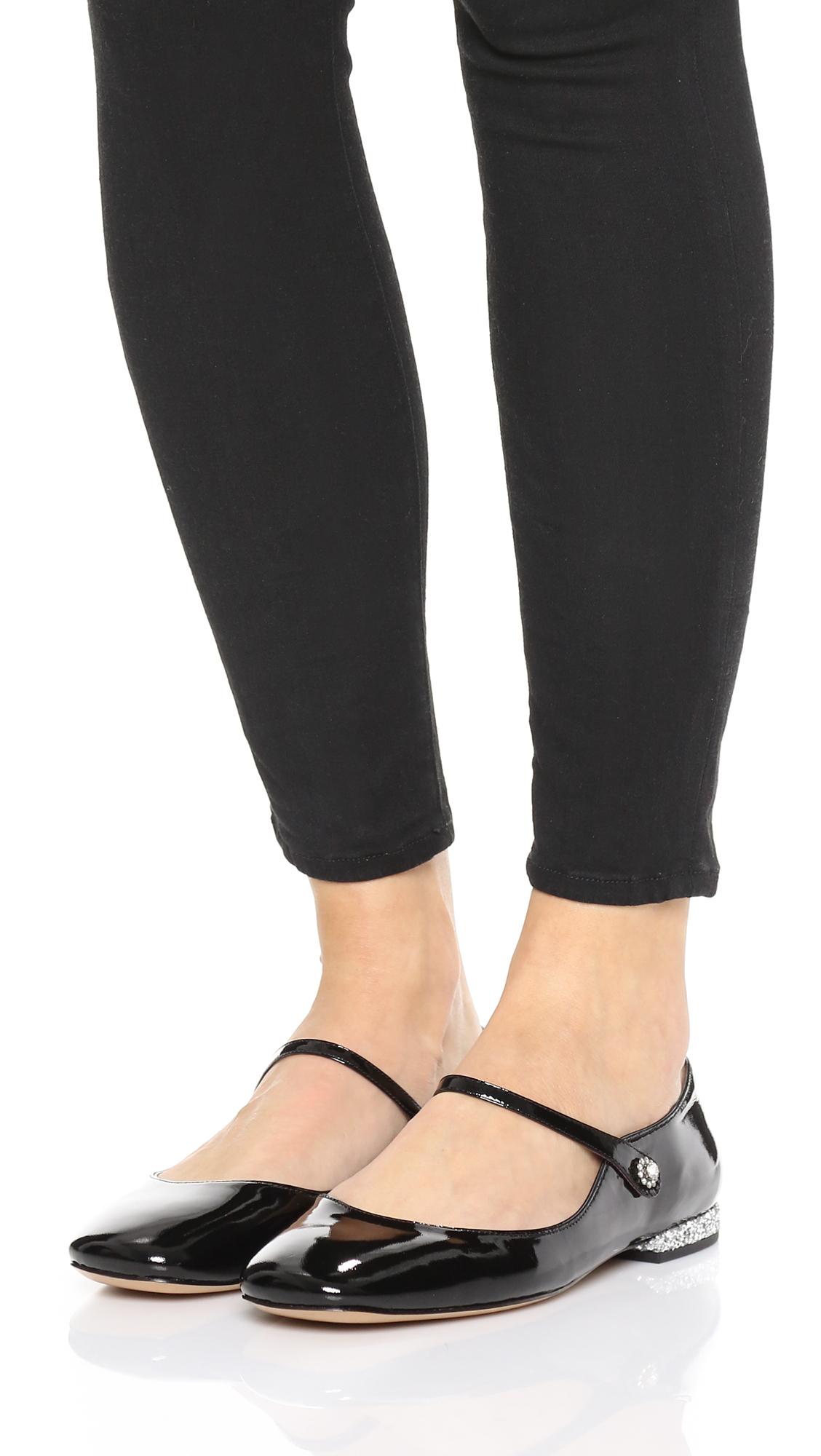 Marc by marc jacobs Brooke Mary Jane Flats in Black | Lyst