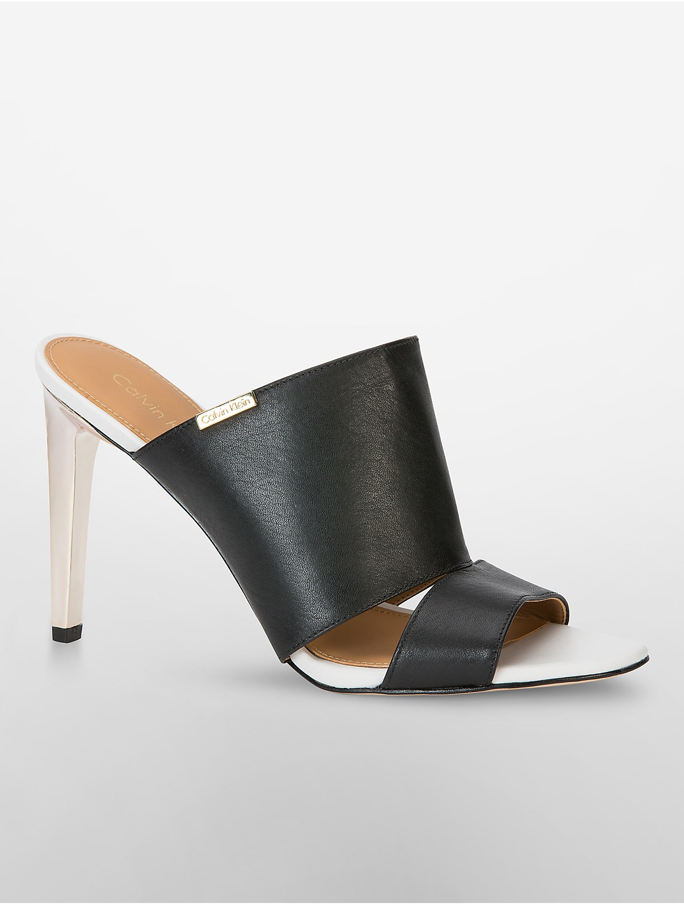 6c9d7b4e4db8 Lyst - Calvin Klein Ninfa Mule in Black