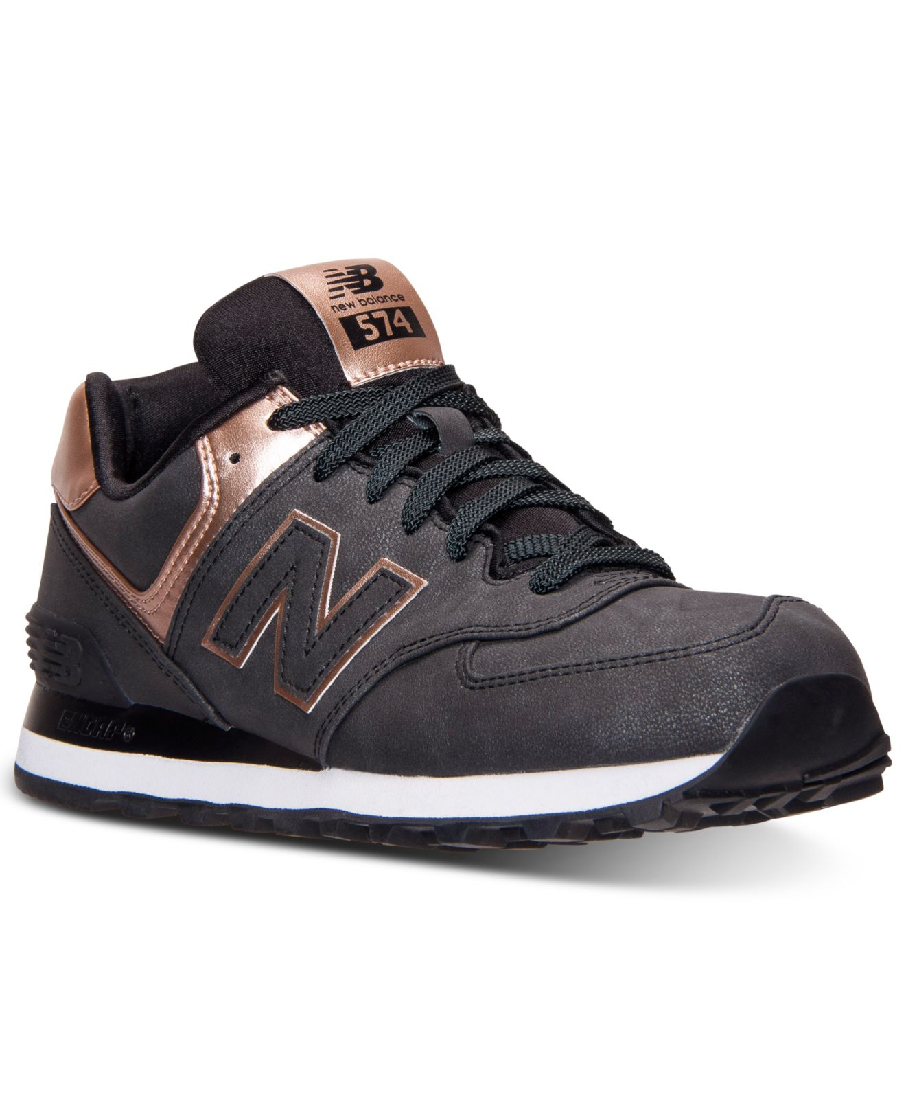 lyst new balance women 39 s 574 precious metals casual sneakers from finish line in metallic. Black Bedroom Furniture Sets. Home Design Ideas