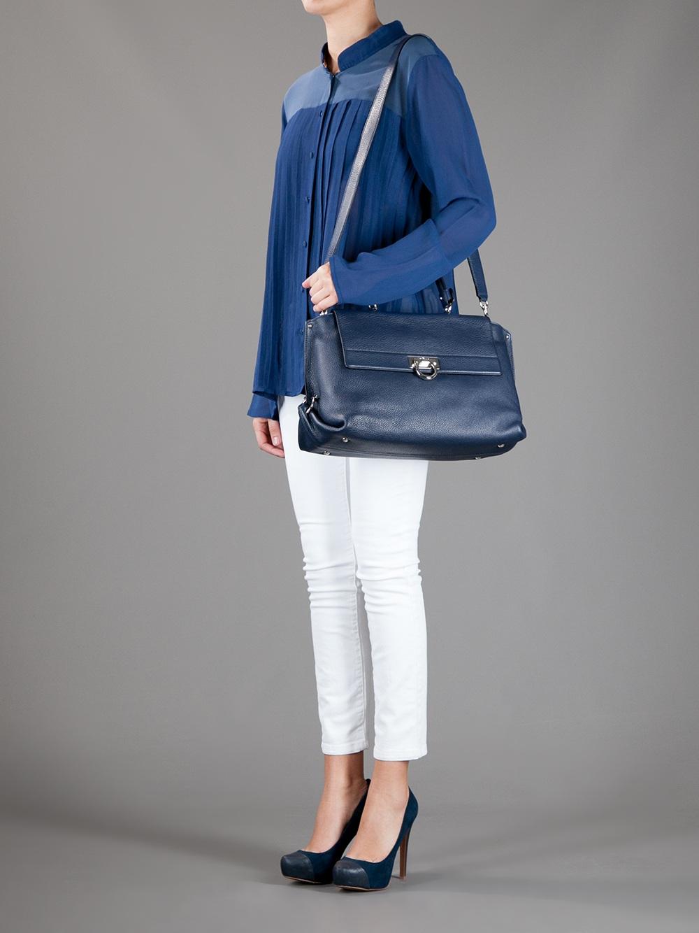 Lyst - Ferragamo Sofia Bag in Blue 916b1a56350da