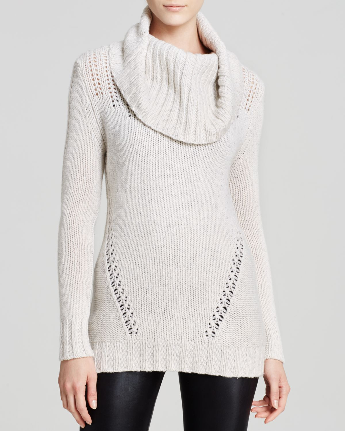 Autumn Cashmere Beige Sweater - Hand Knit Chunky Cowl Cashmere Lyst