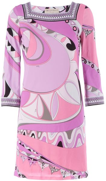 Emilio Pucci Dresses On Sale Emilio Pucci Printed Dress in