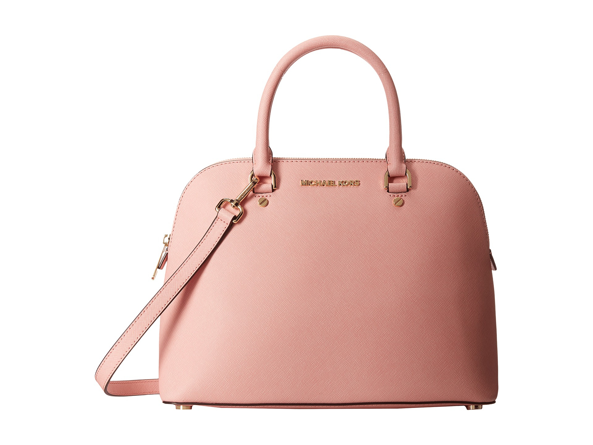 4cd56d763 MICHAEL Michael Kors Cindy Large Dome Satchel in Pink - Lyst