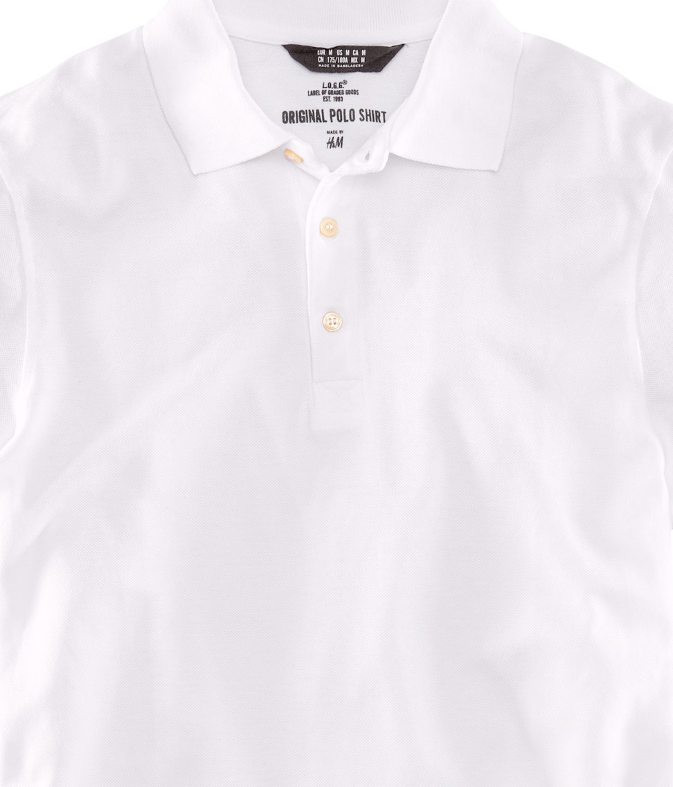 Lyst h m polo shirt in white for men for H m polo shirt mens