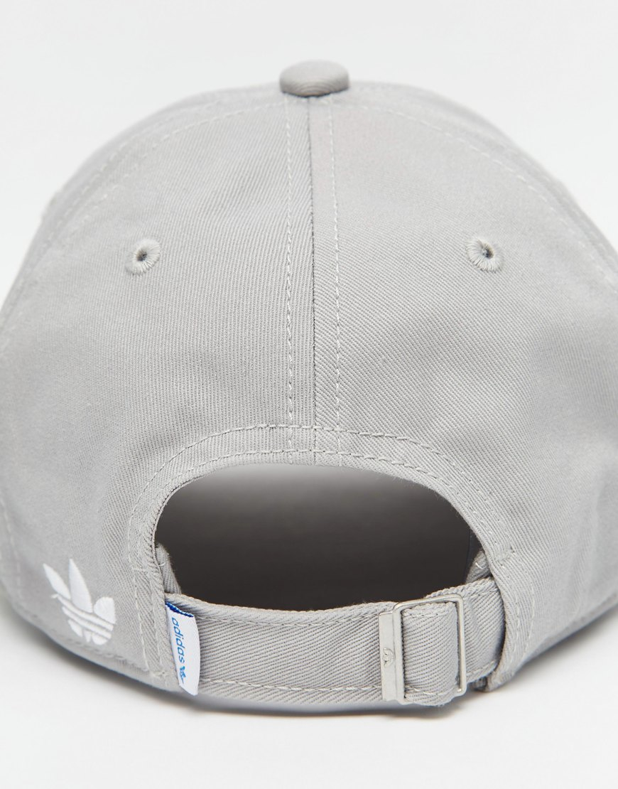 1f9ae41269d ... coupon code for adidas originals trefoil cap in grey in gray for men  lyst 4933f b8ad8 ...