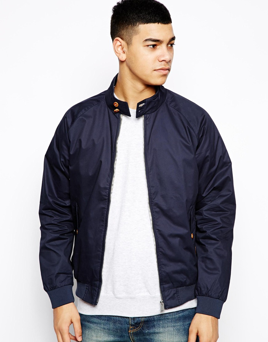 ben sherman jacket harrington in blue for men lyst. Black Bedroom Furniture Sets. Home Design Ideas