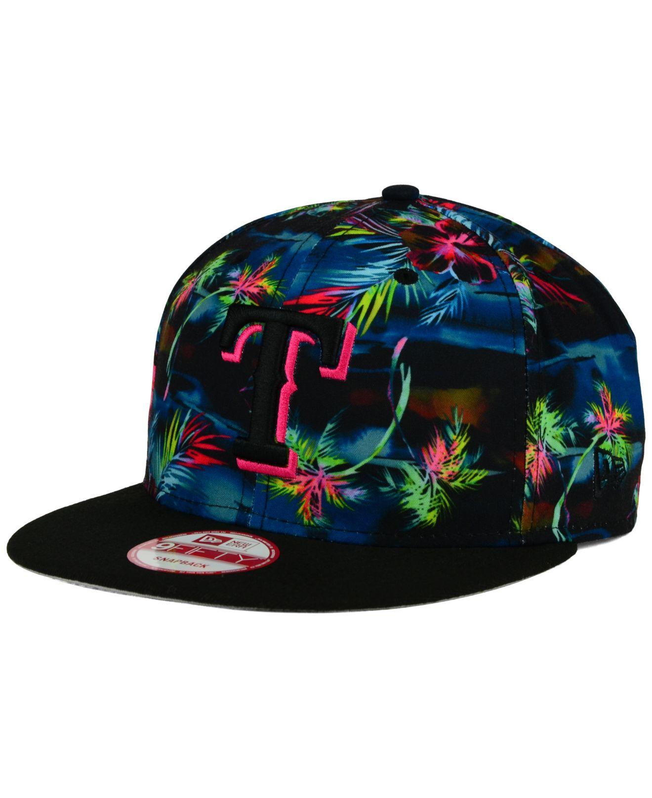 f3881fc2eb0 ... inexpensive lyst ktz texas rangers dark tropic 9fifty snapback cap in  blue for men 23a59 8a6a5