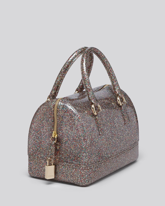 Lyst - Furla Satchel - Candy Cookie Glitter Mini in Metallic 9f8fa3b951ec