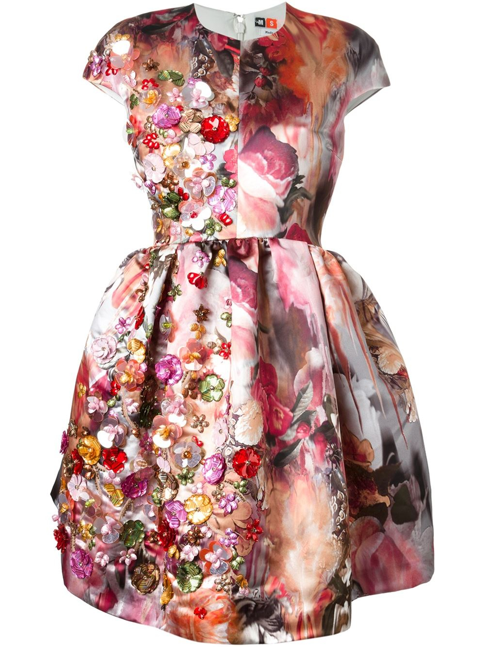 Dress with multicolor floral pattern Msgm Cheap Visit New Discount Cheap Price New Arrival Cheap Price fktz35