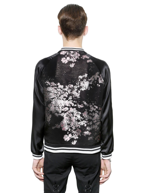 Christian Dada Japanese Silk Jacquard Bomber Jacket In