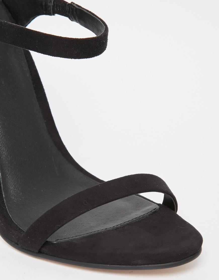 563c1bbf0df Lyst - ASOS Horizon Heeled Sandals in Black
