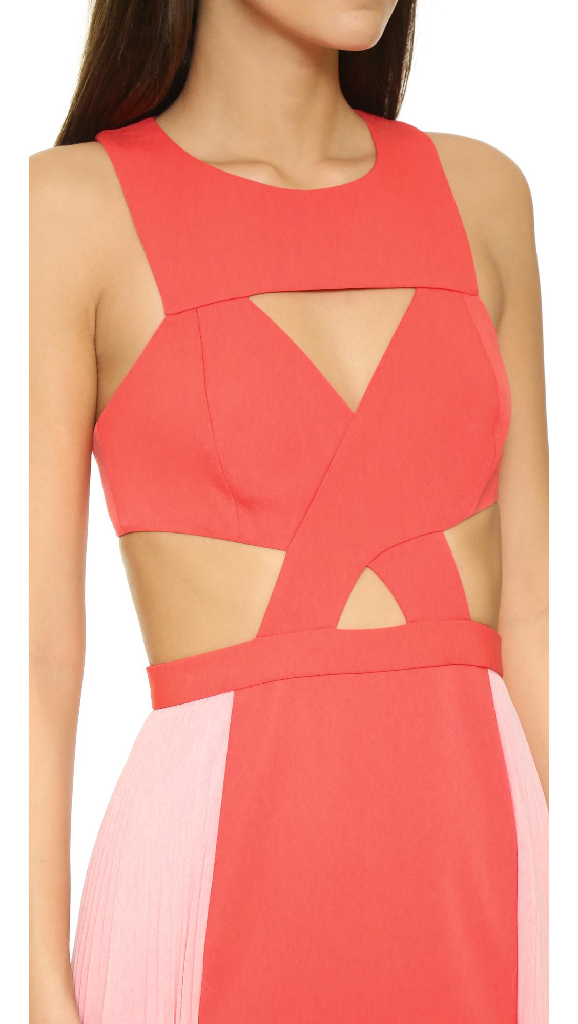 Lyst - Bcbgmaxazria Cutout Gown in Pink