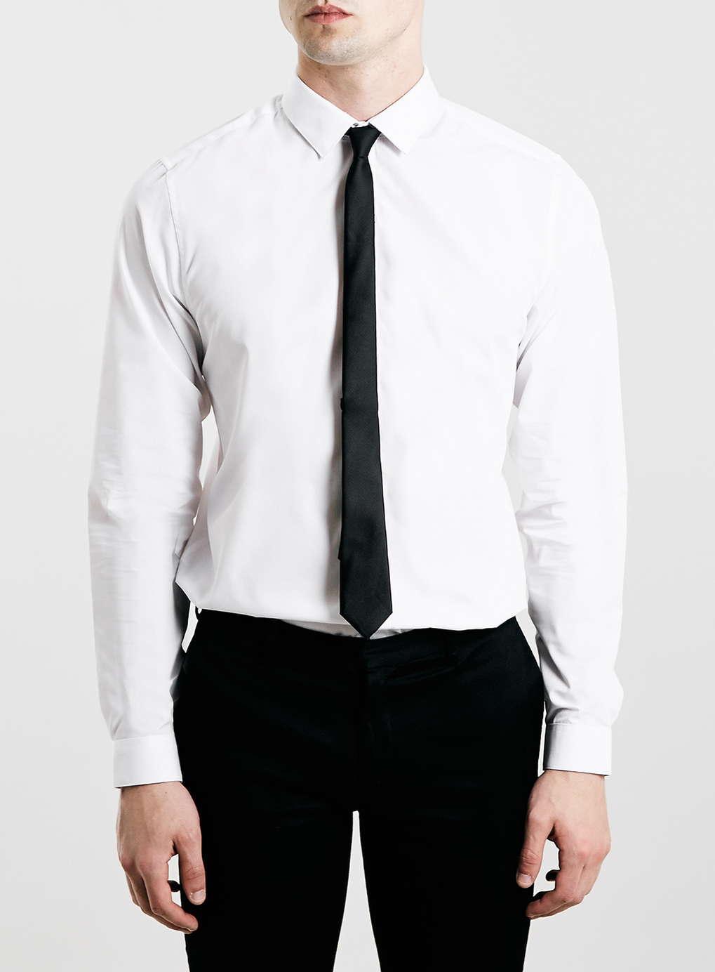 Topman white shirt black tie pack in white for men lyst for White shirt with black