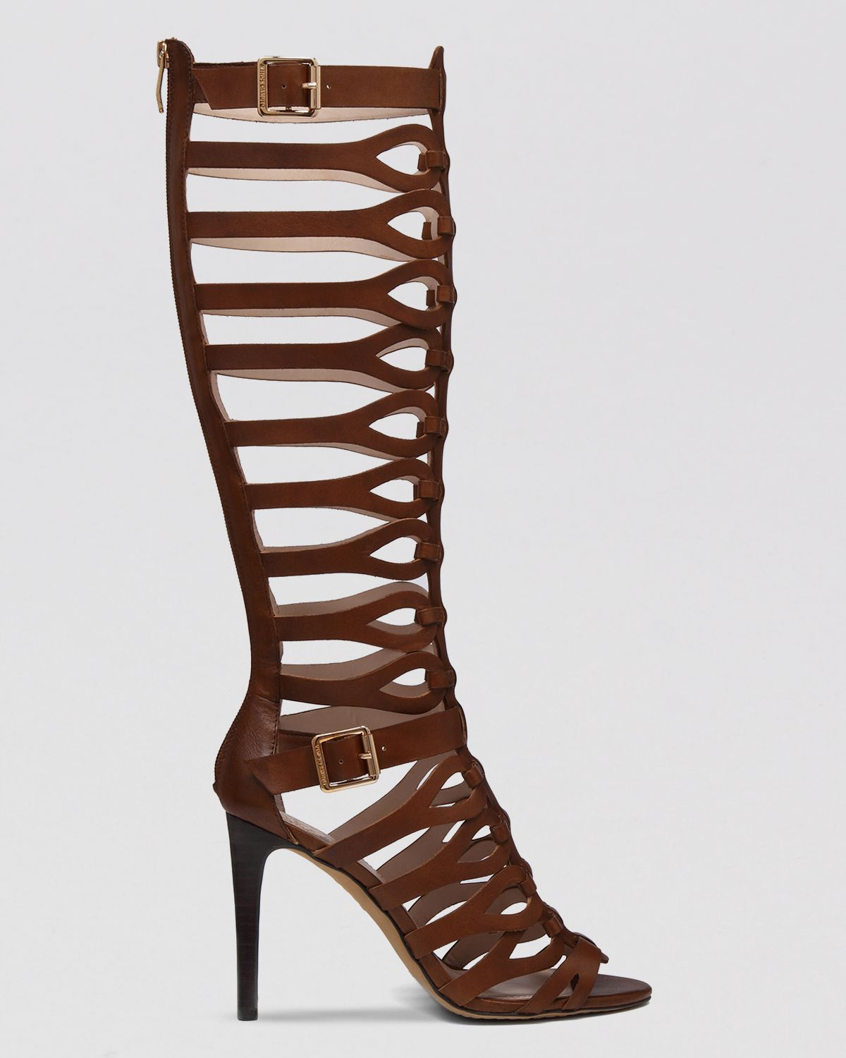 Vince camuto Gladiator Sandals Omera High Heel in Brown | Lyst