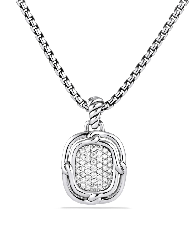 David Yurman Labyrinth Small Pendant With Diamonds In