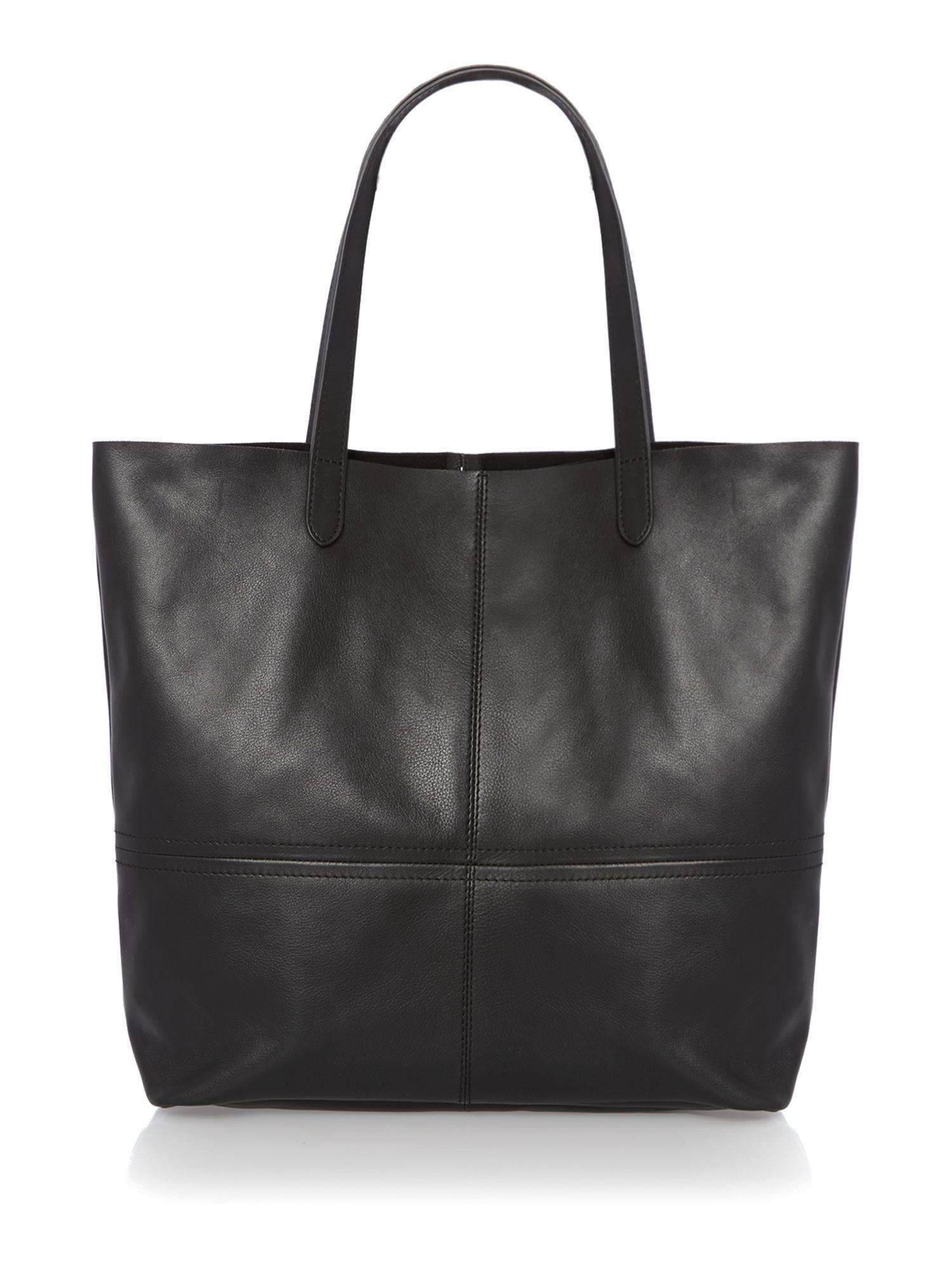 166841fa7fa6 Leather Tote Bag  Unlined Leather Tote Bag