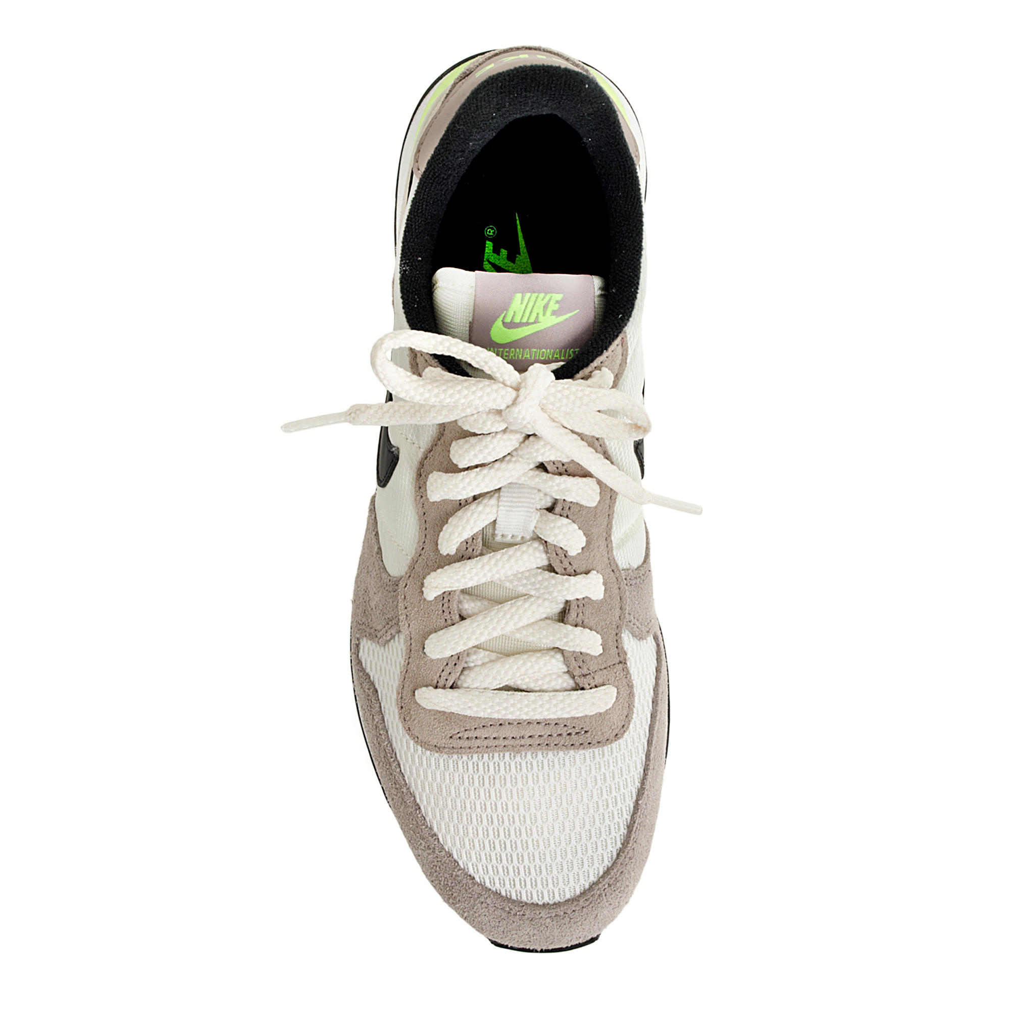 sports shoes 59b5e bbea0 ... Lyst - J.Crew Women s Nike Internationalist Sneakers in Brown ...