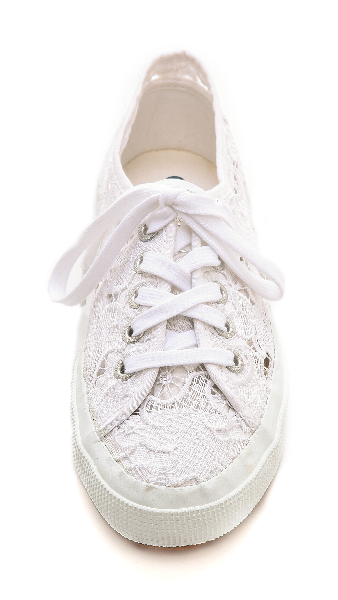 superga lace sneakers in white lyst