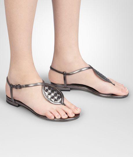 Bottega Veneta Silver Sequin Shoes in Silver