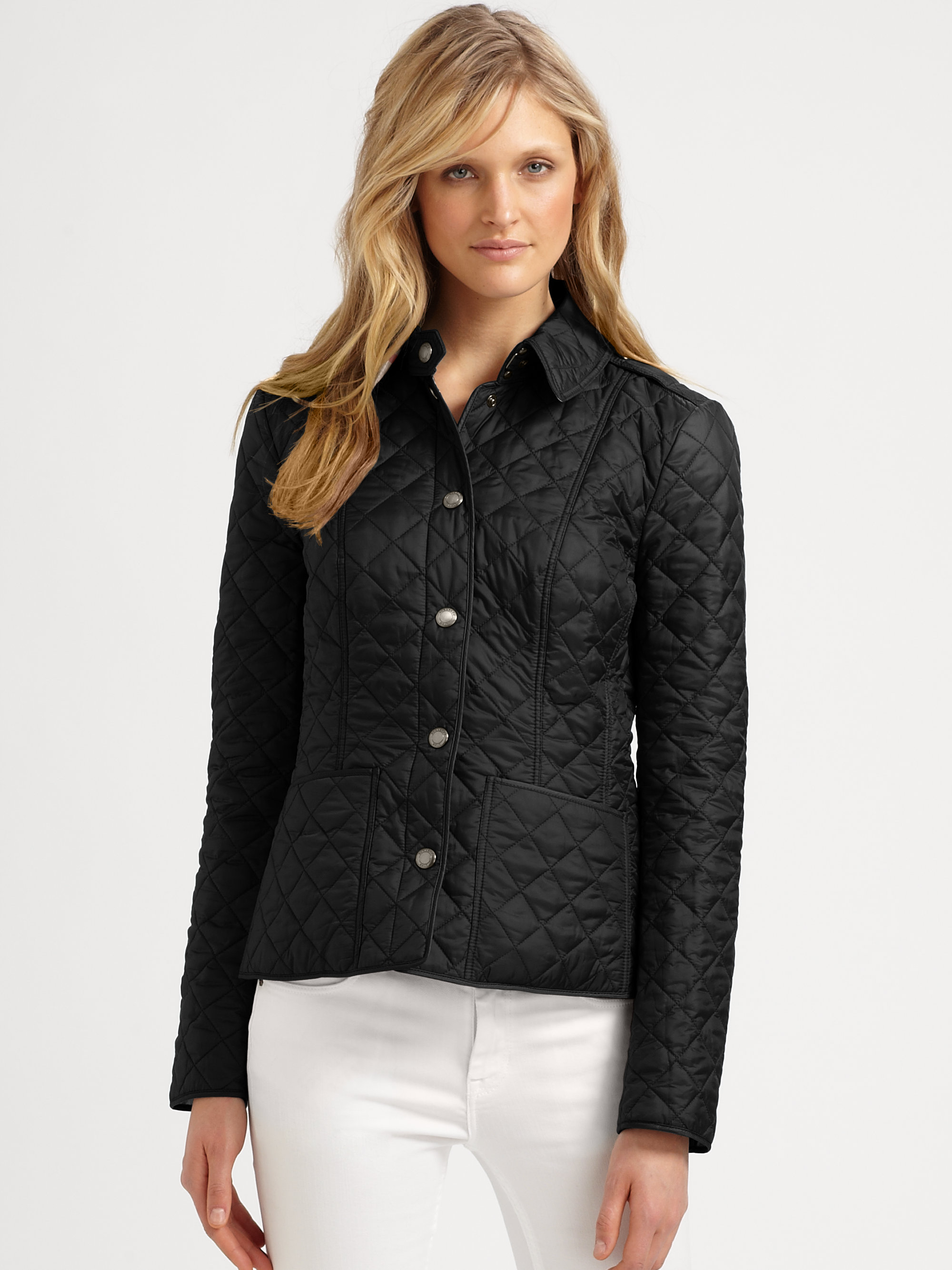 Burberry Kencott Quilted Jacket in Black | Lyst : lightweight quilted coat - Adamdwight.com