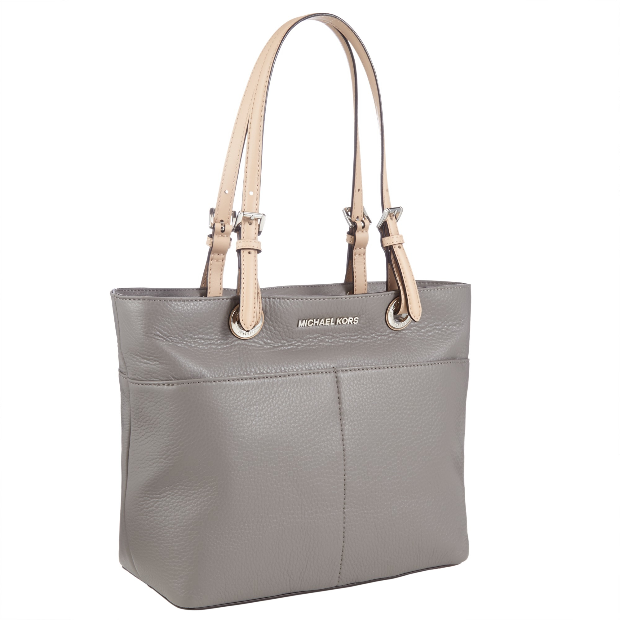 95f7a62ddbe8c ... discount code for michael michael kors bedford top zip pocket tote in  gray lyst f2977 2214a