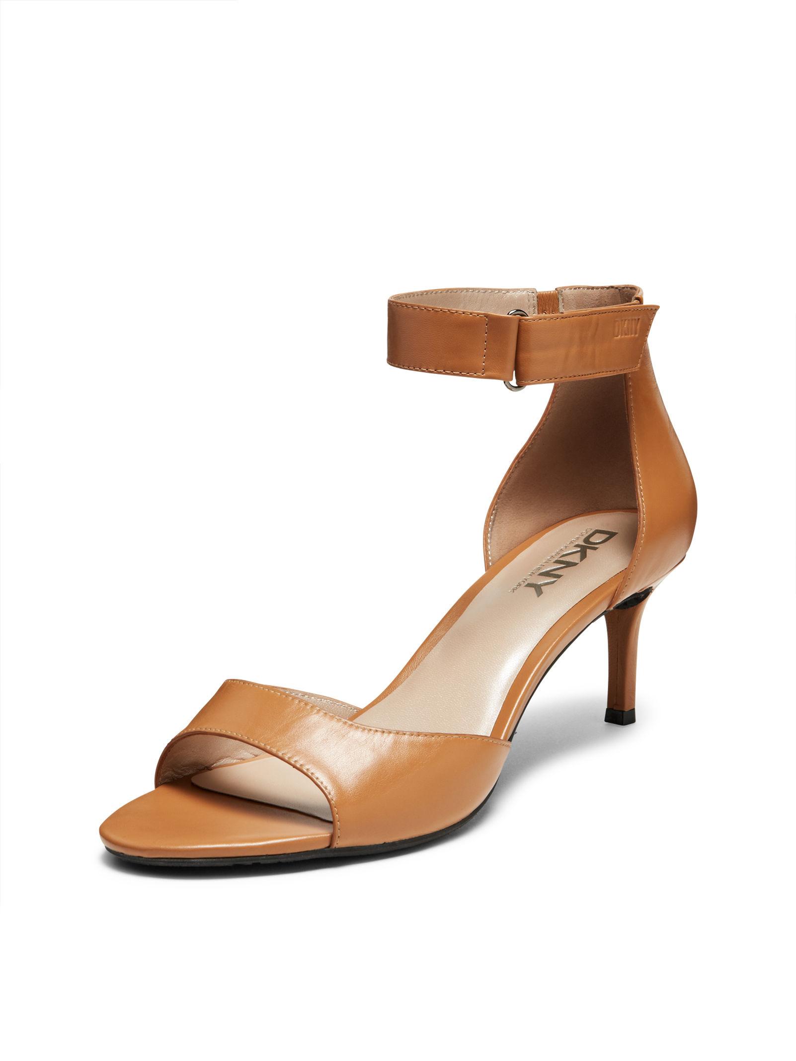 42a1e896099 Lyst - DKNY Gianna Kitten Heel Sandal in Brown