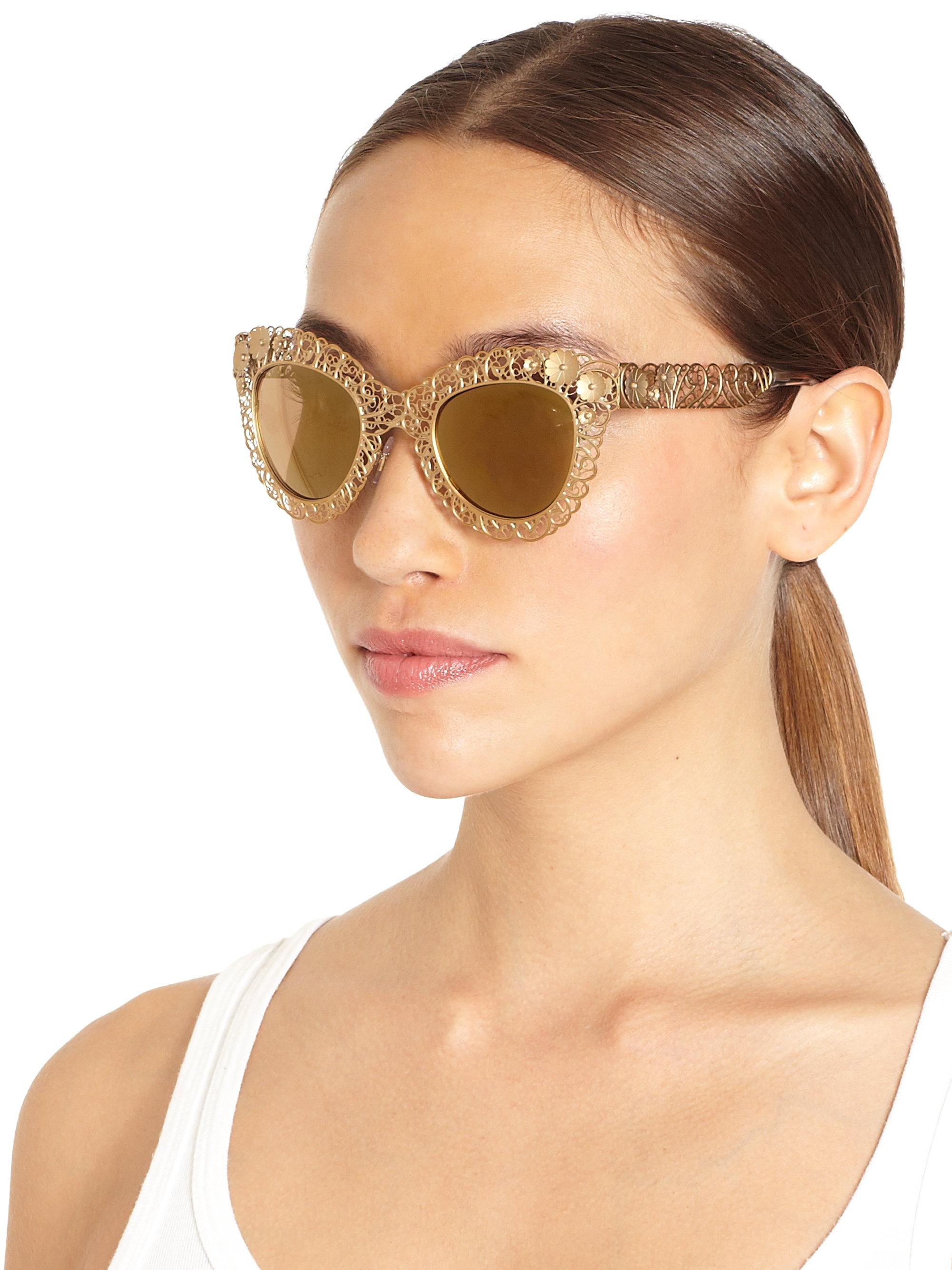 692e4de75648 Lyst - Dolce   Gabbana Sunglasses in Metallic