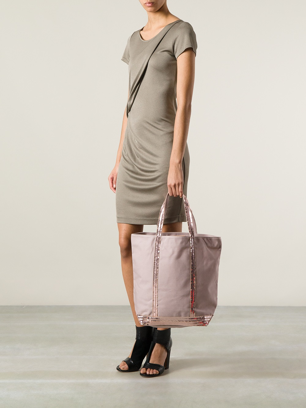 lyst vanessa bruno long tote bag in pink