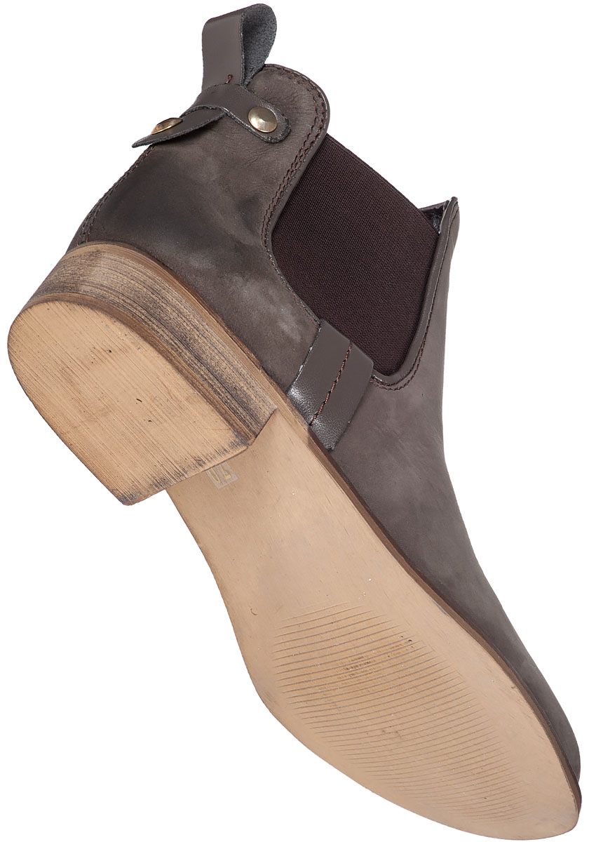 Steve madden Gilte Ankle Boot Brown Suede in Gray | Lyst