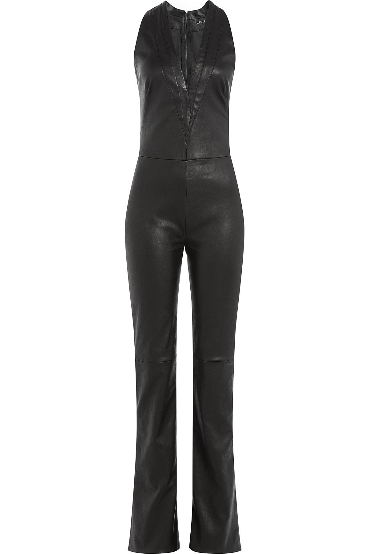 Jitrois Leather Jumpsuit - Black in Black | Lyst