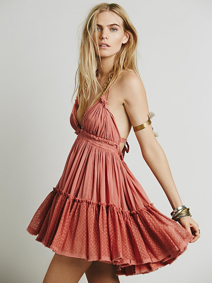 Free people 100 Degree Dress in Pink  Lyst
