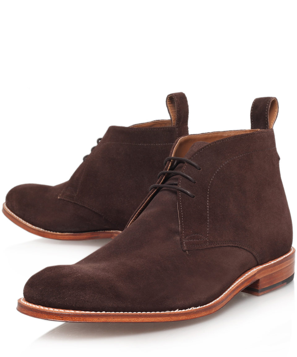 foot the coacher brown marcus suede desert boots in brown for men lyst. Black Bedroom Furniture Sets. Home Design Ideas