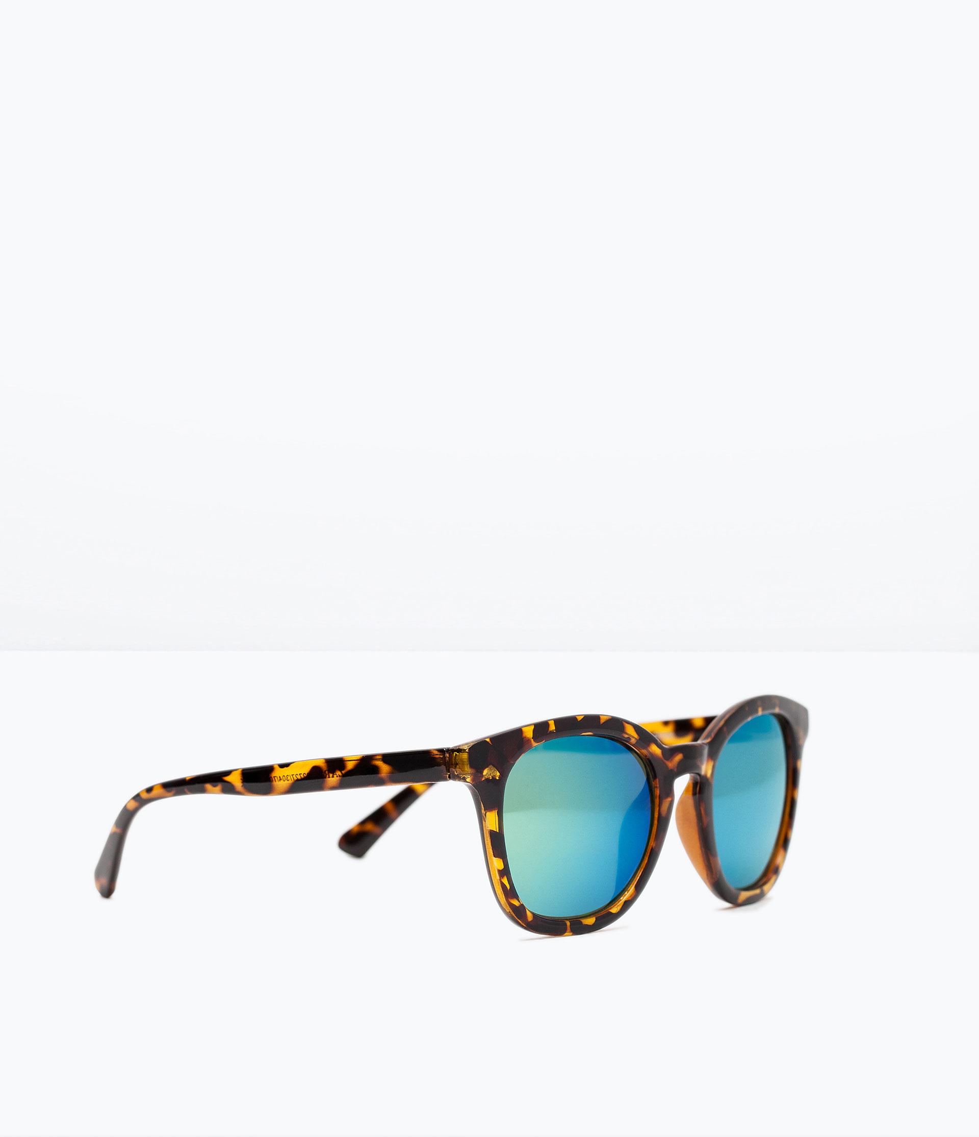Zara Glasses Frames : Zara Rounded Sunglasses With Tortoiseshell Frame in Brown ...