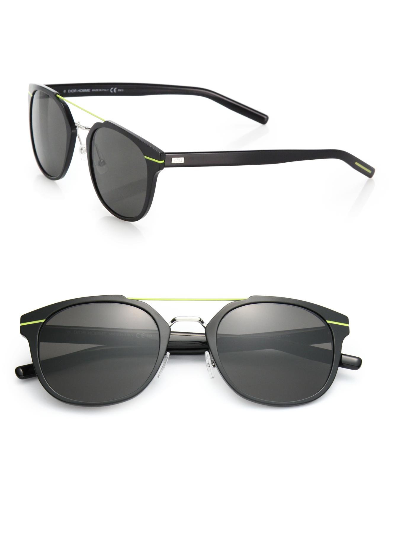 Dior Mens Sunglasses  dior homme metal round sunglasses in black for men lyst