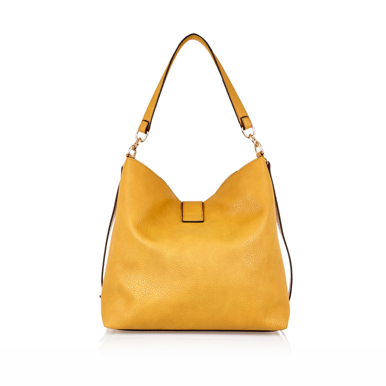 River Island Dark Yellow Tassel Front Slouchy Handbag in ...