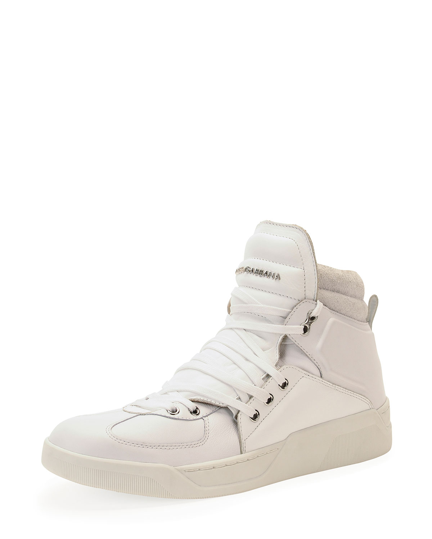Lyst - Dolce   Gabbana Benelux High-Top Sneaker in White for Men ae2dc79dee
